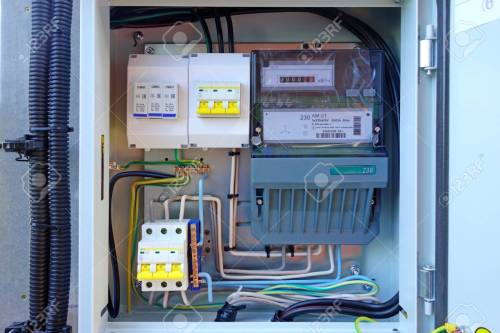 small resolution of introductory electrical box with three phase electricity meter