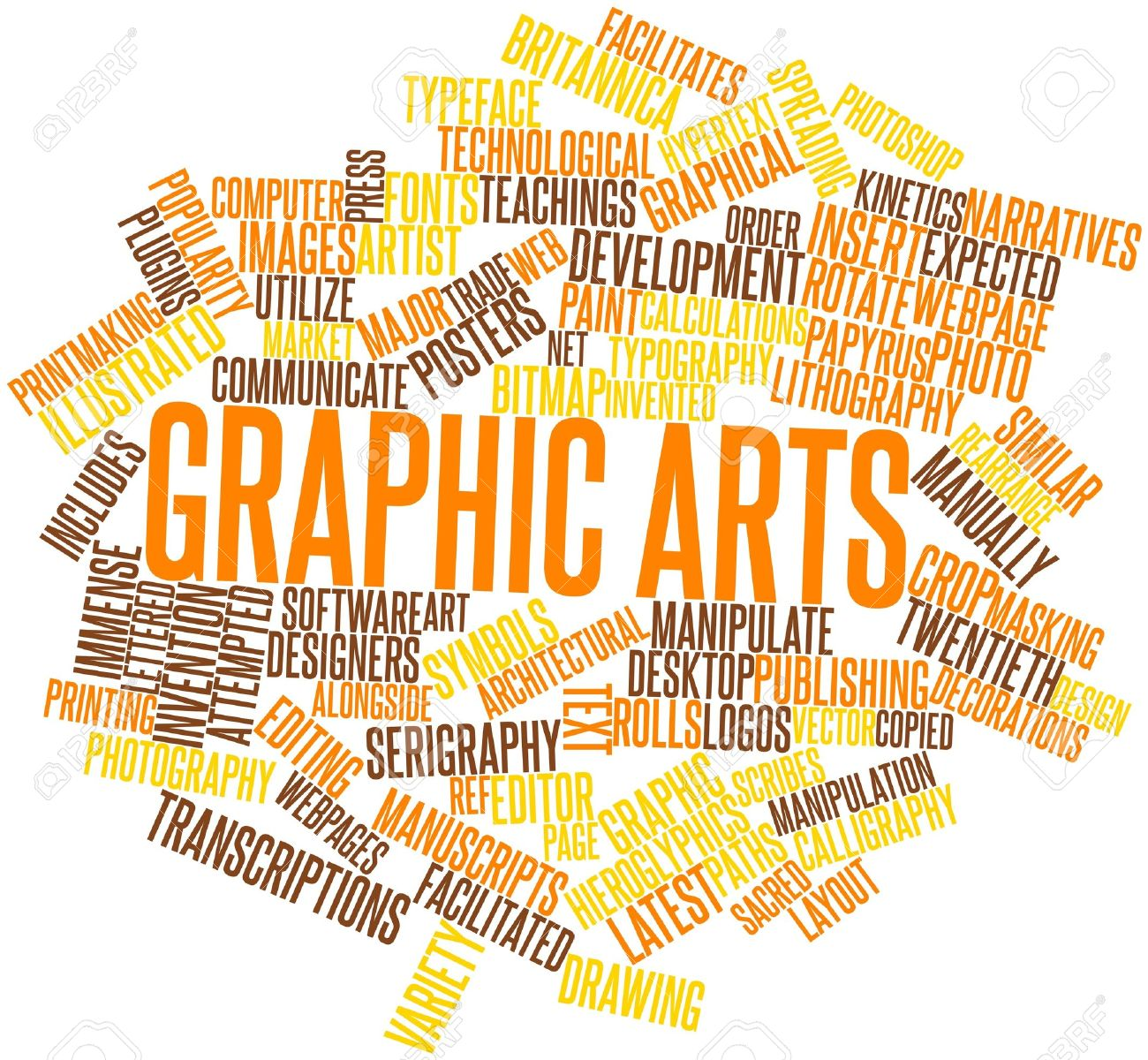 abstract word cloud for
