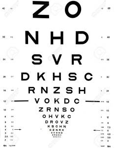 Snellen eye chart that can be used to measure visual acuity optometry background and eyes also stock rh rf