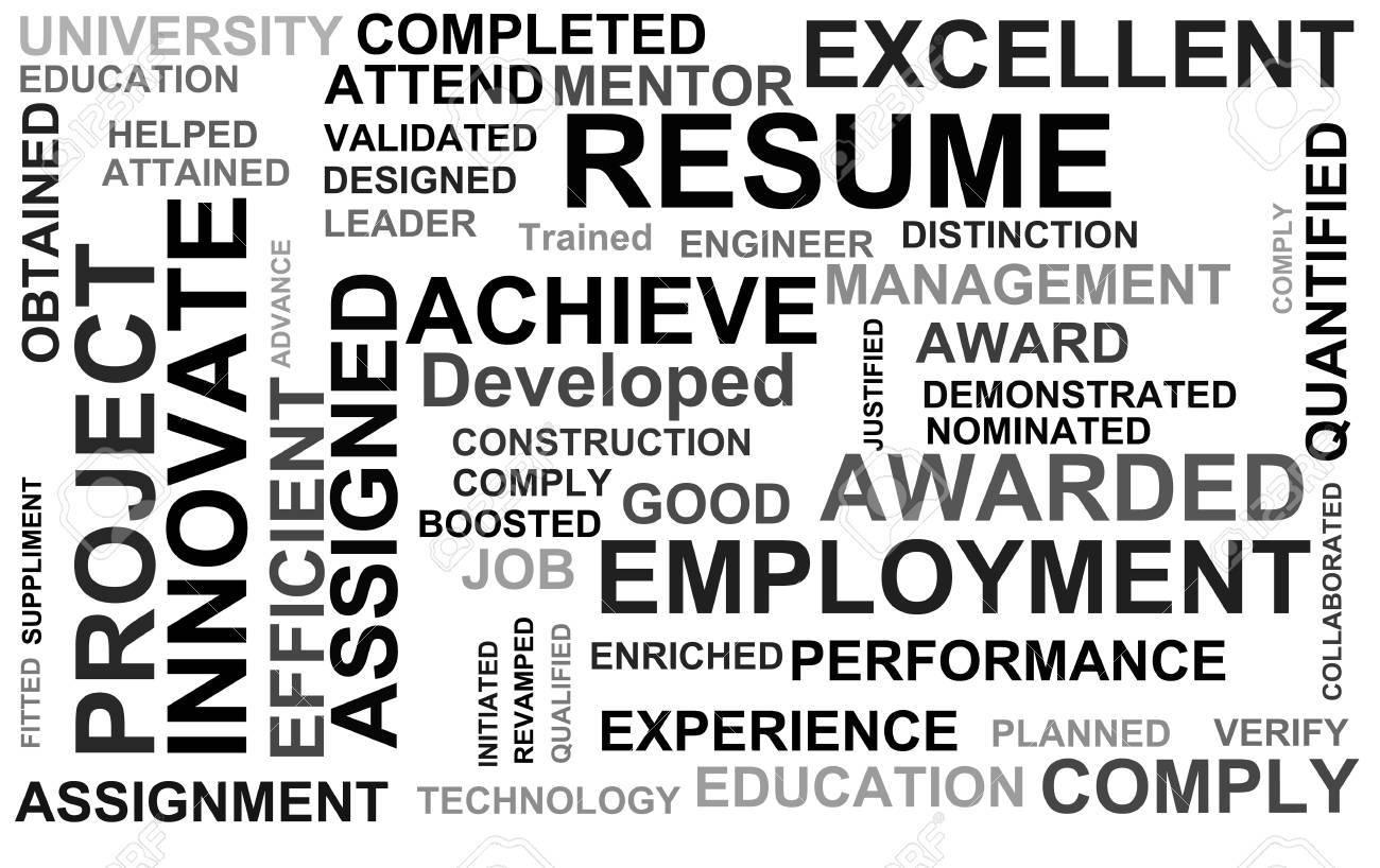 Resume Powerful Words Illustration High Resolution Digital. Stock ...