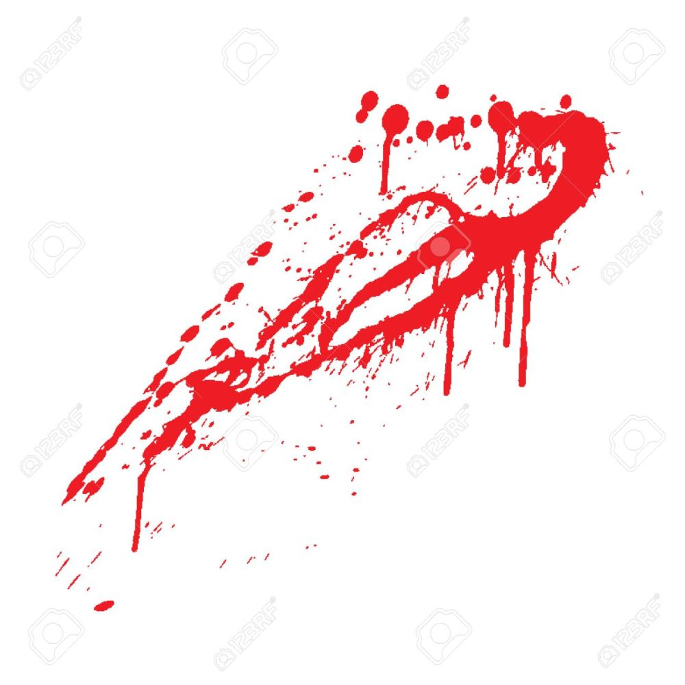 medium resolution of blood splatter vector illustration stock vector 4743742
