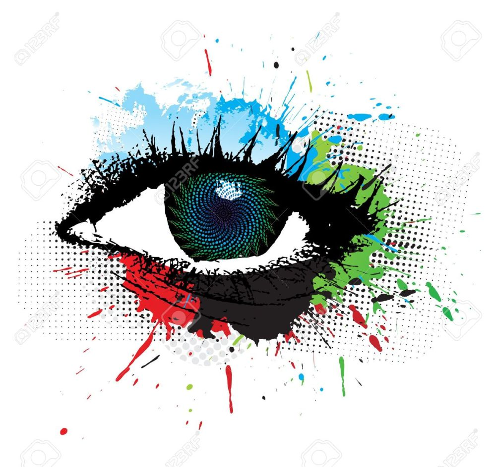 medium resolution of abstract grunge design of beautiful human eye illustration stock vector 7133410