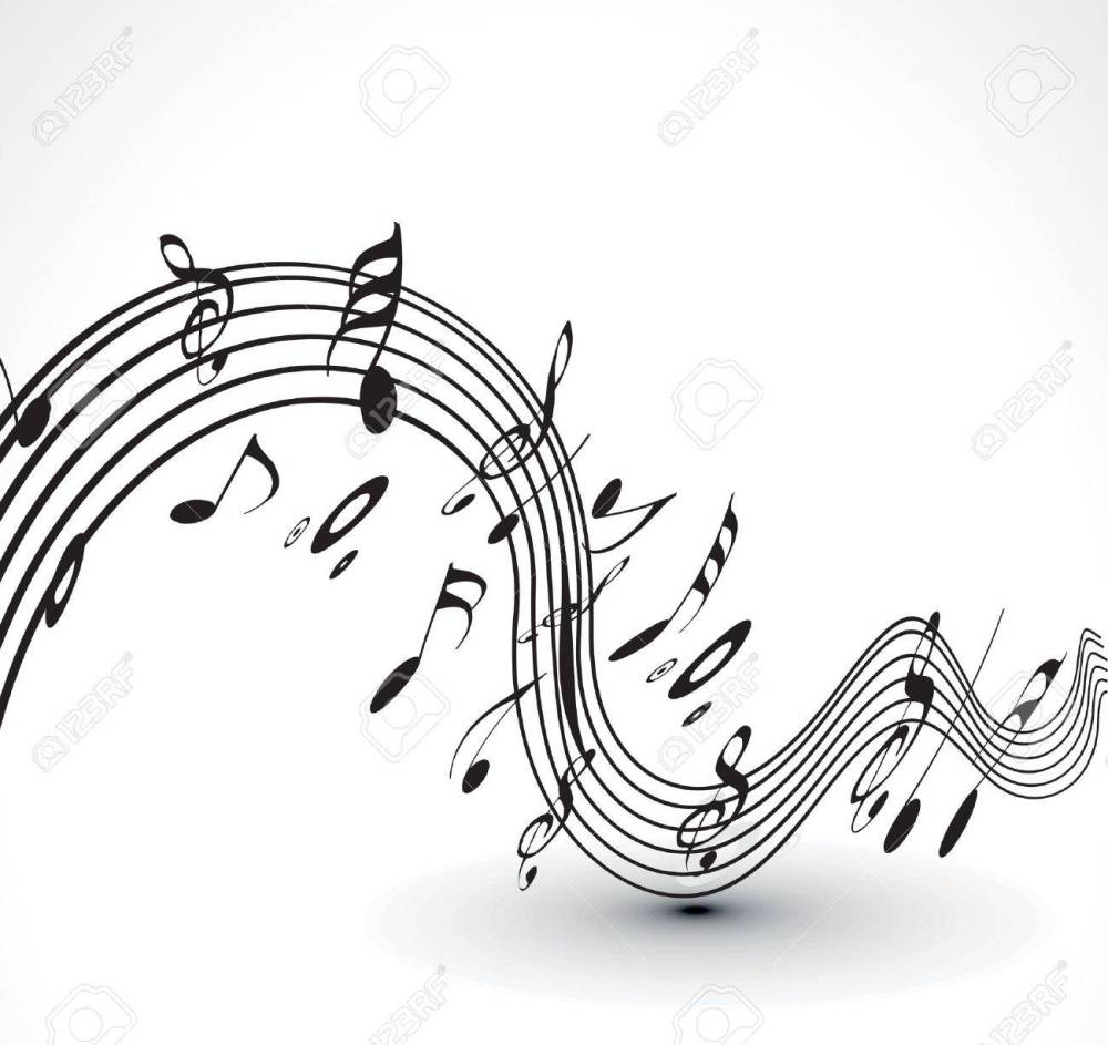 medium resolution of abstract musical notes background for design use stock vector 9543028