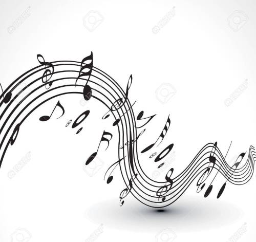 small resolution of abstract musical notes background for design use stock vector 9543028