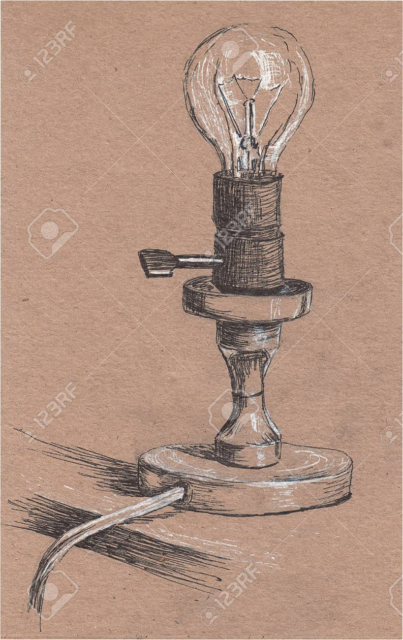 Old Lantern In The Style Of A Sketch The Symbol Of Warmth And Stock Photo Picture And Royalty Free Image Image 114413750