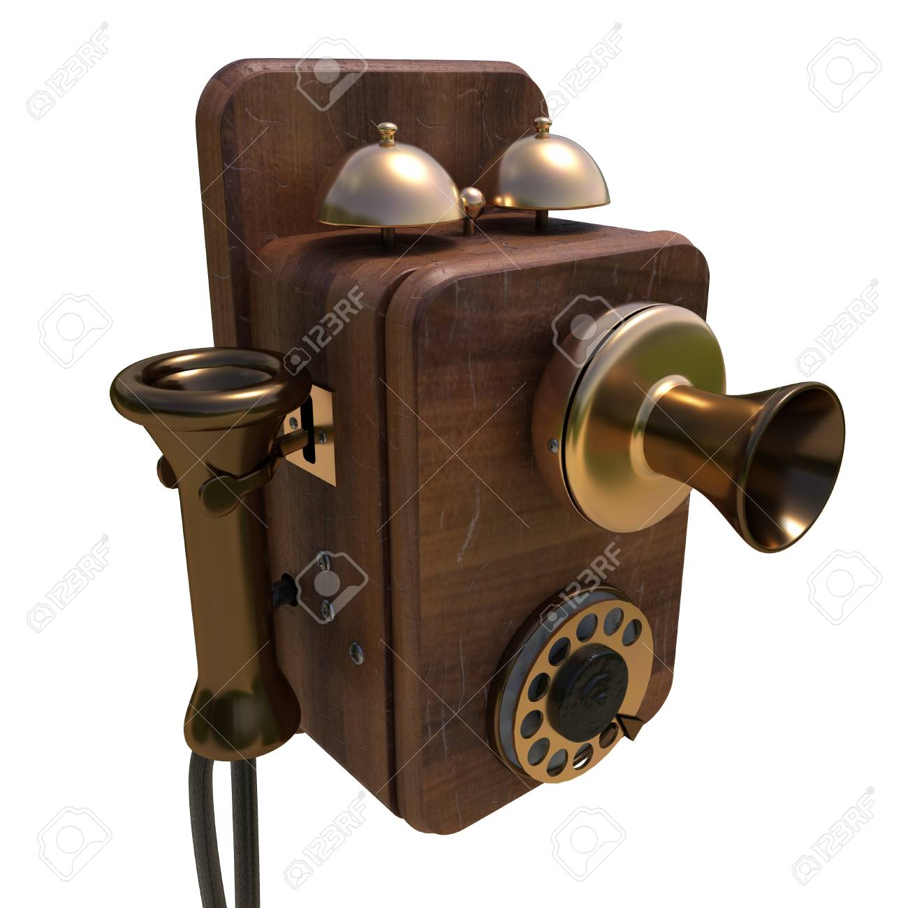hight resolution of old antique phone stock photo 71930377