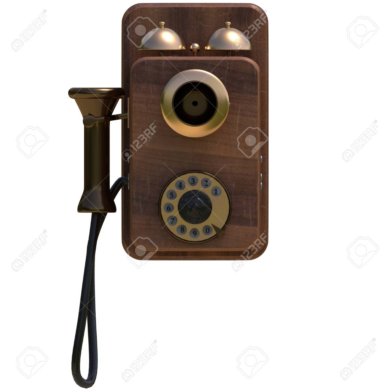 hight resolution of old antique phone stock photo 71929572