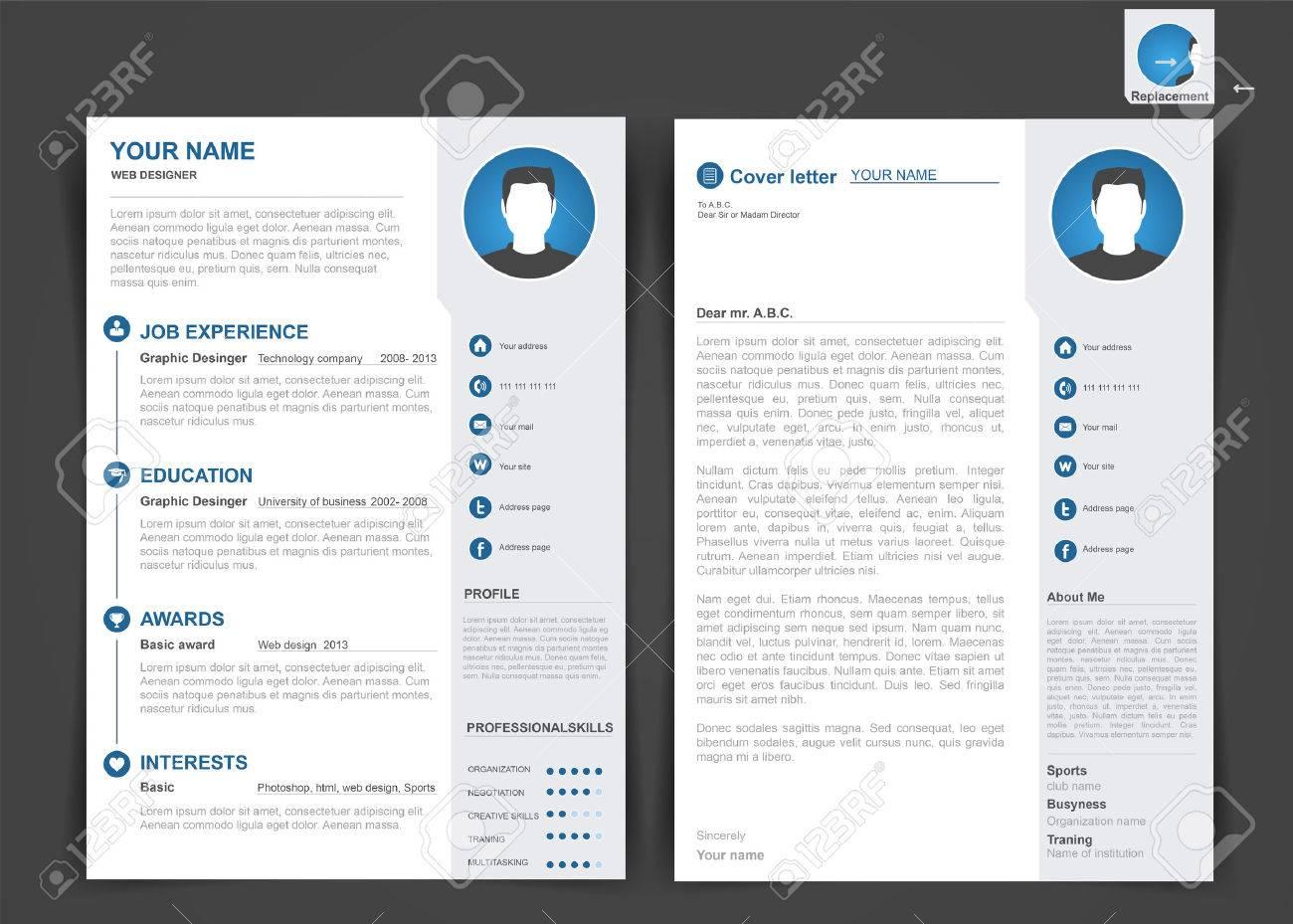 Ohne ein gute vorlage oder eine gute designvorlage für eine bewerbung. Professional Cv Resume Template Of Two Pages A4 Size Royalty Free Cliparts Vectors And Stock Illustration Image 48650664