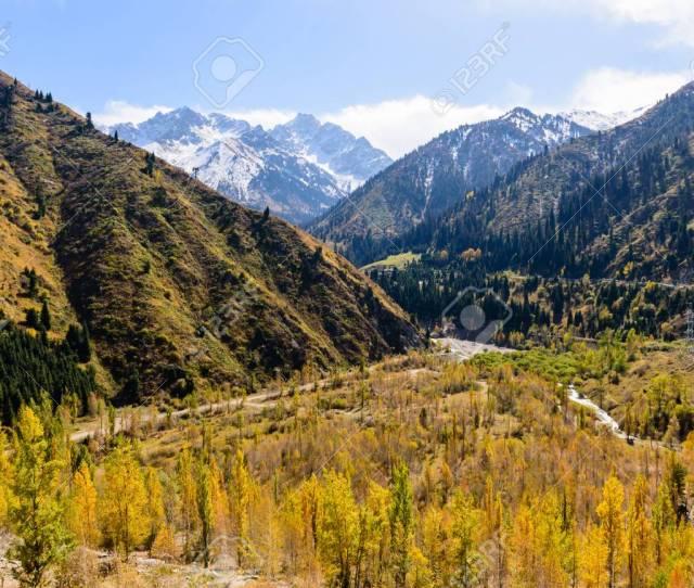 Picturesque Mountains Medeo Almaty Kazakhstan Stock Photo 50827511