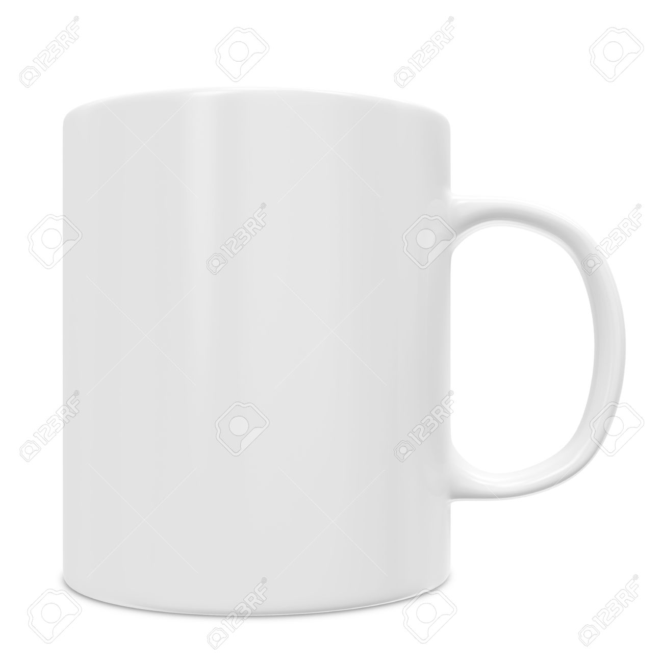 blank white cup isolated
