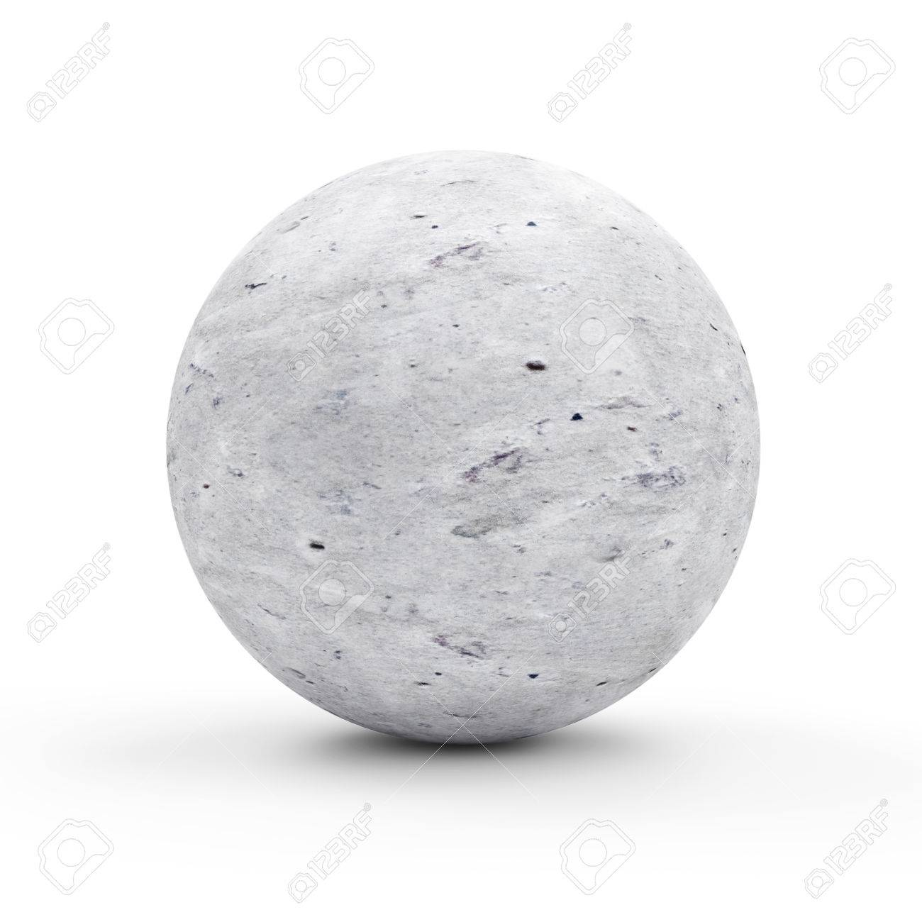 concrete sphere isolated on