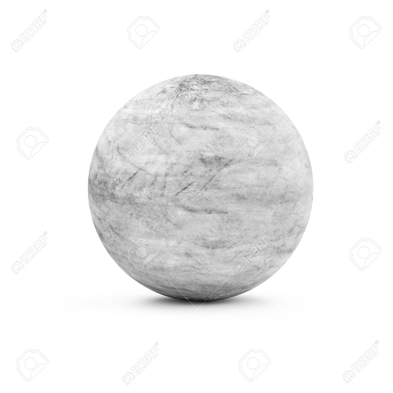 dirty concrete sphere isolated