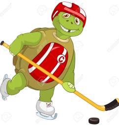 funny turtle hockey player stock vector 13533846 [ 1300 x 1300 Pixel ]