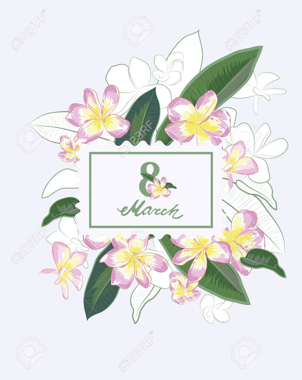 Plumeria Clipart : plumeria, clipart, Abstract, Flower, Spring, Illustration., Plumeria, Flowers, Royalty, Cliparts,, Vectors,, Stock, Image, 71548080.