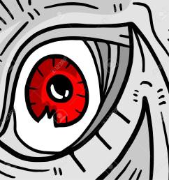 red monster eye stock vector 42566397 [ 1299 x 1300 Pixel ]