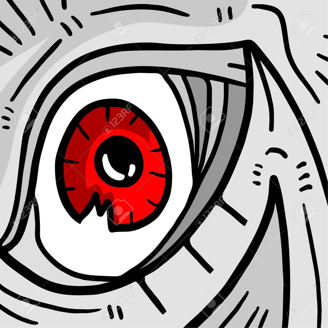hight resolution of red monster eye stock vector 42566397