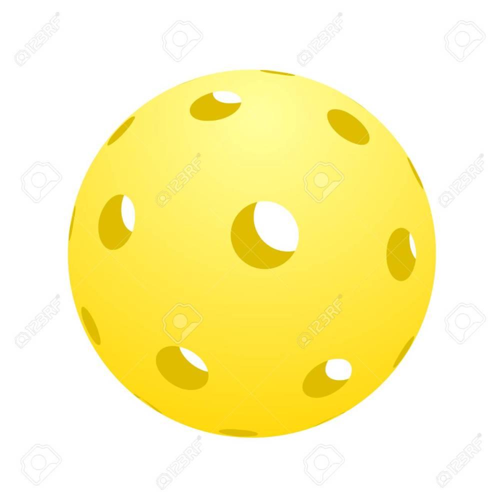 medium resolution of ball of pickle ball icon illustration stock vector 93840616