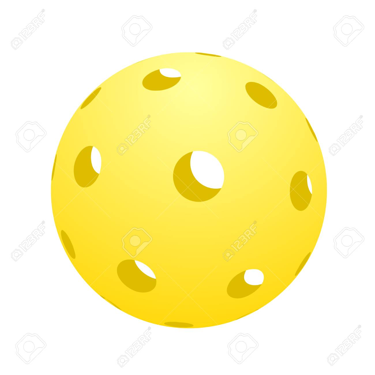 hight resolution of ball of pickle ball icon illustration stock vector 93840616