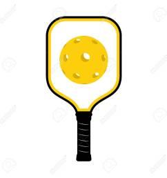 pickleball racket illustration stock vector 95035497 [ 1300 x 1300 Pixel ]