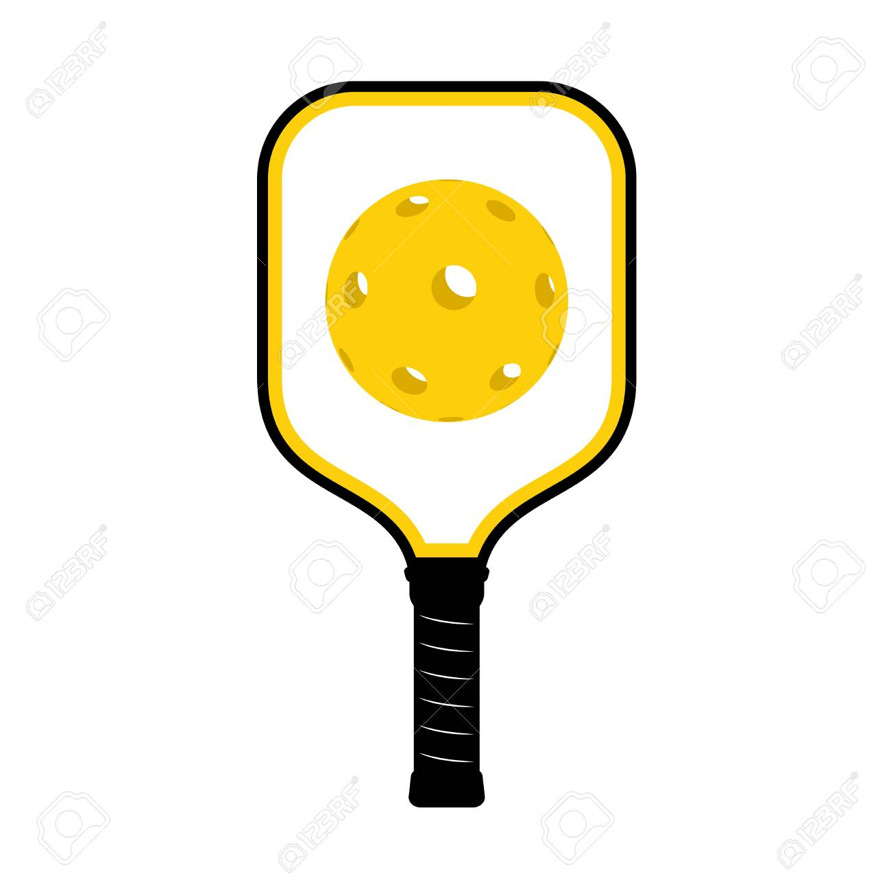 hight resolution of pickleball racket illustration stock vector 95035497