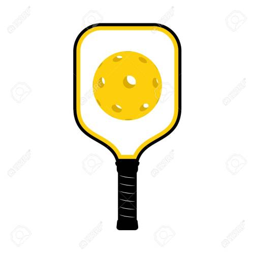 small resolution of pickleball racket illustration stock vector 95035497