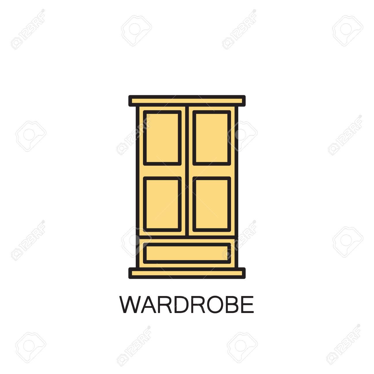 pictogramme de haute qualite de garde robe pour l interieur de la maison symbole de vecteur de contour pour site web de conception ou application mobile