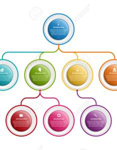 Infographic design organization chart template for business presentations information banner timeline or web also rh rf