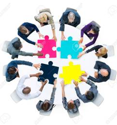 business people connection corporate jigsaw puzzle concept [ 1300 x 1275 Pixel ]