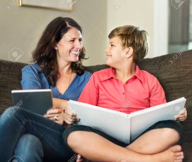 Mom Son Vacation Together Relax Concept Stock Photo 57719929