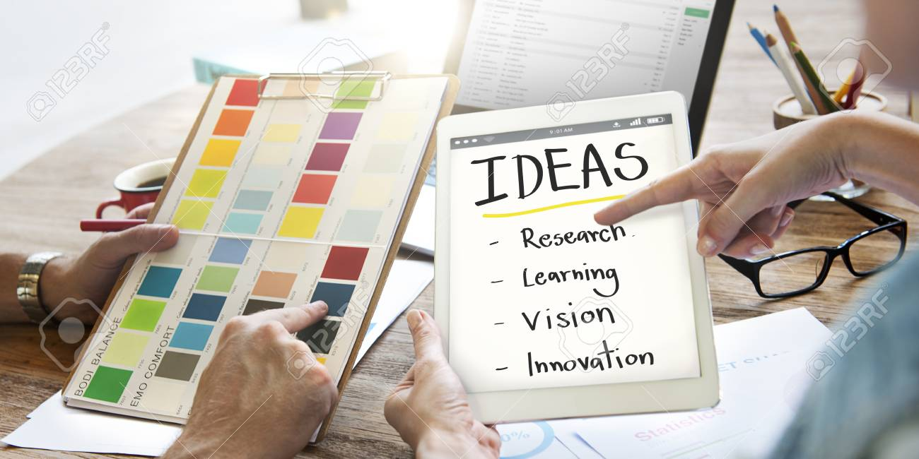 Idea Innovation Research Vision Learning Concept Stock Photo