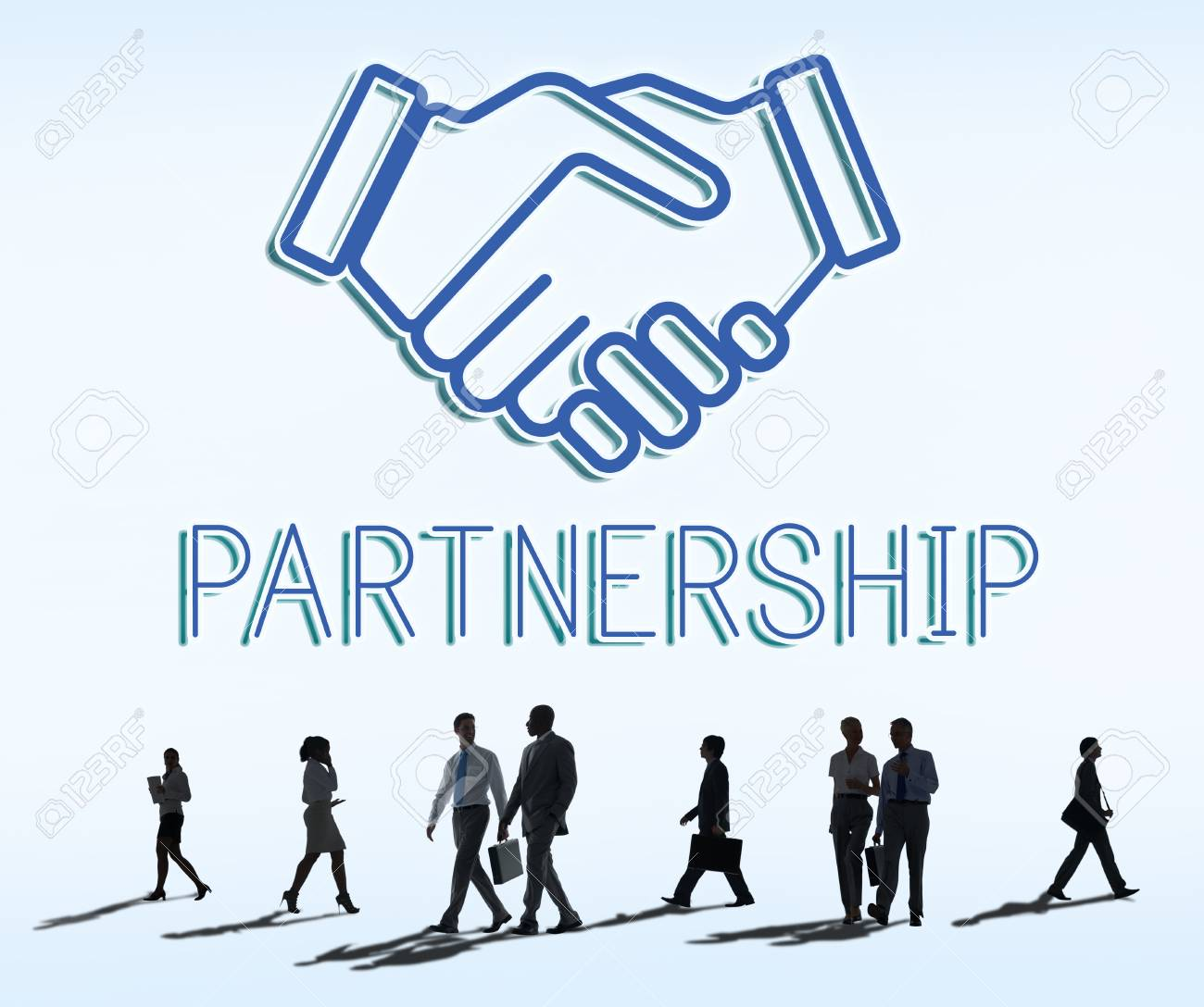 Partnership Agreement Cooperation Collaboartion Concept Stock Photo -  62868472
