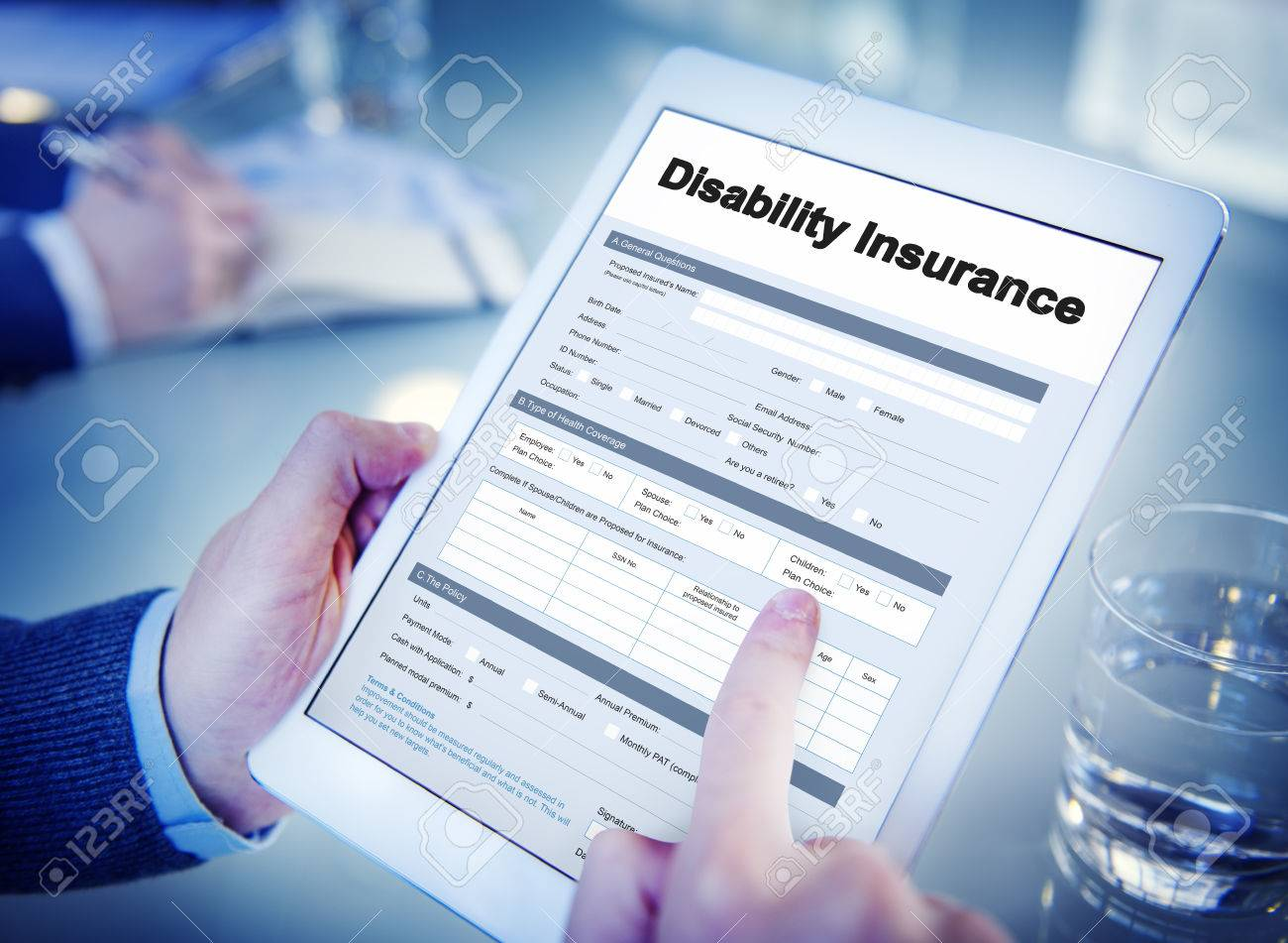 Disability Insurance Claim Form Document Concept Stock Photo - 63709577