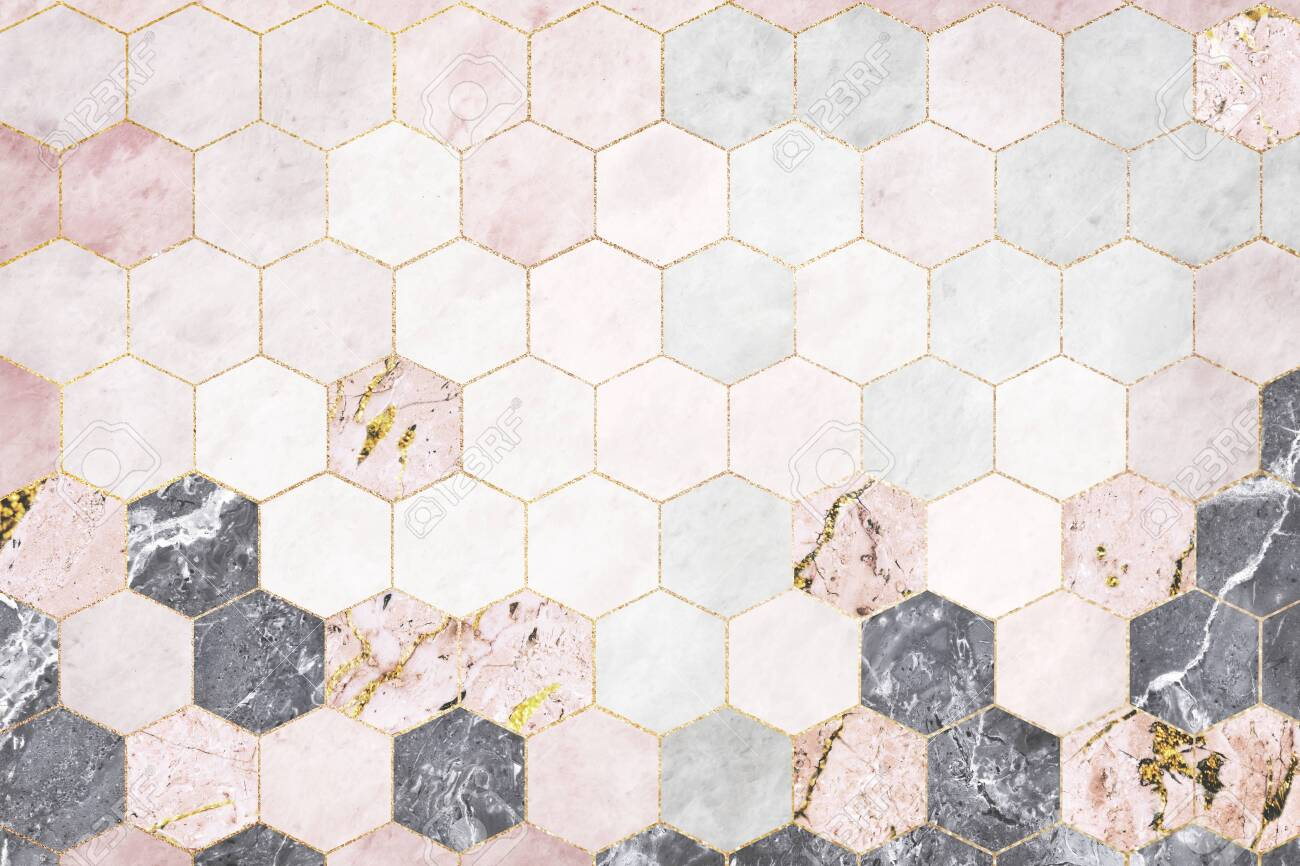 https www 123rf com photo 125497789 hexagon pink marble tiles patterned background html