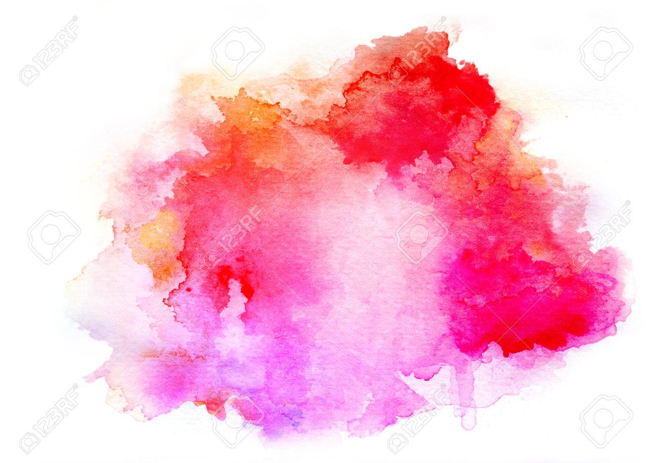 colorful watercolor drawing for