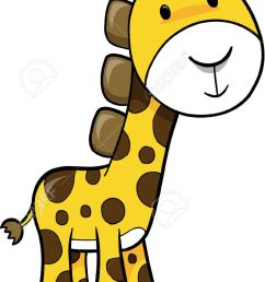 safari giraffe vector illustration stock vector 2019442 [ 741 x 1300 Pixel ]