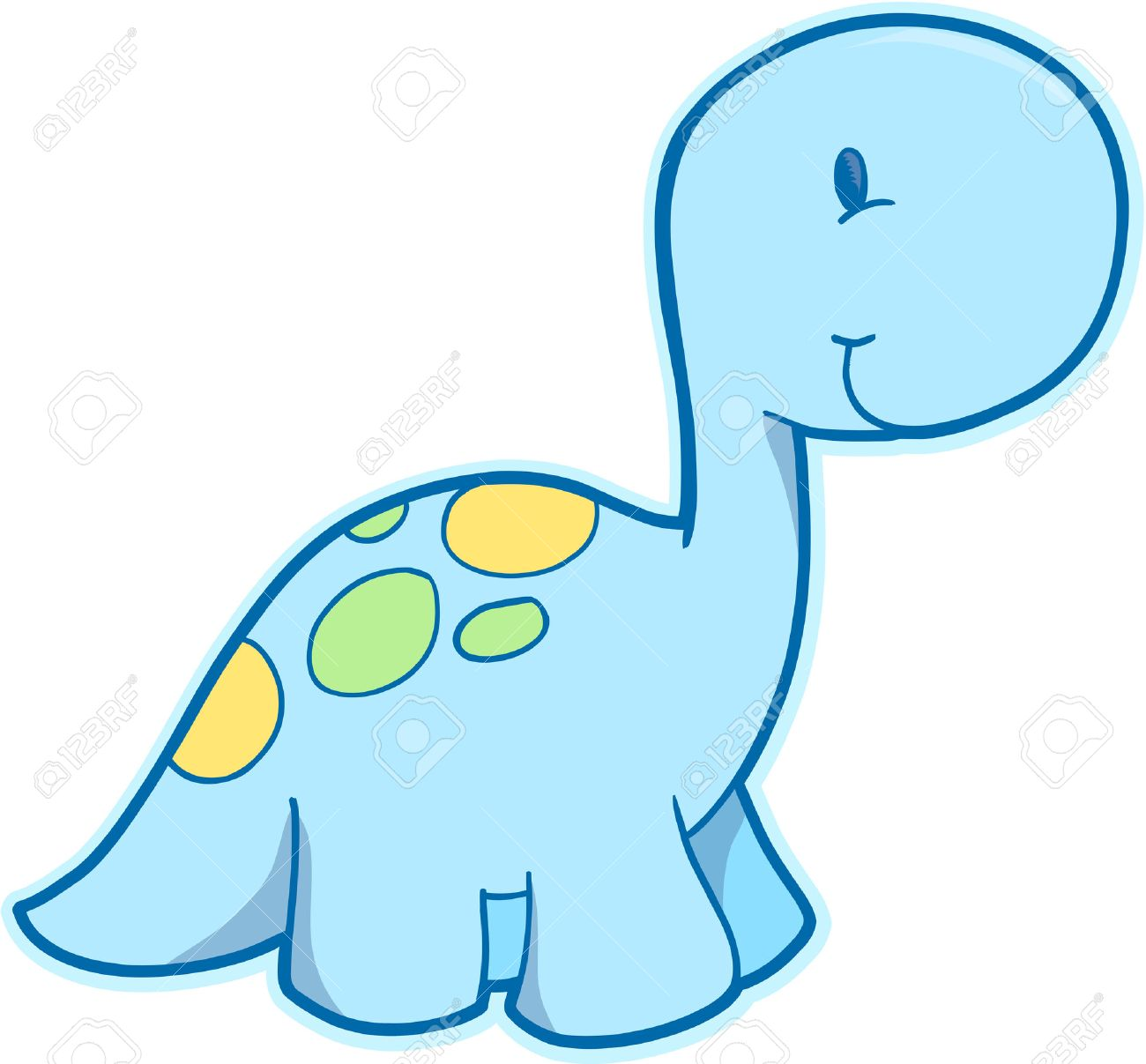 hight resolution of cute dinosaurio ilustraci n vectorial foto de archivo 3050779