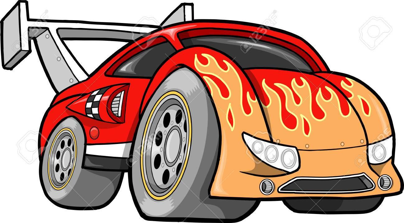 hight resolution of hot rod race car illustration stock vector 6883764