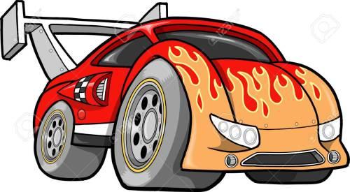 small resolution of hot rod race car illustration stock vector 6883764