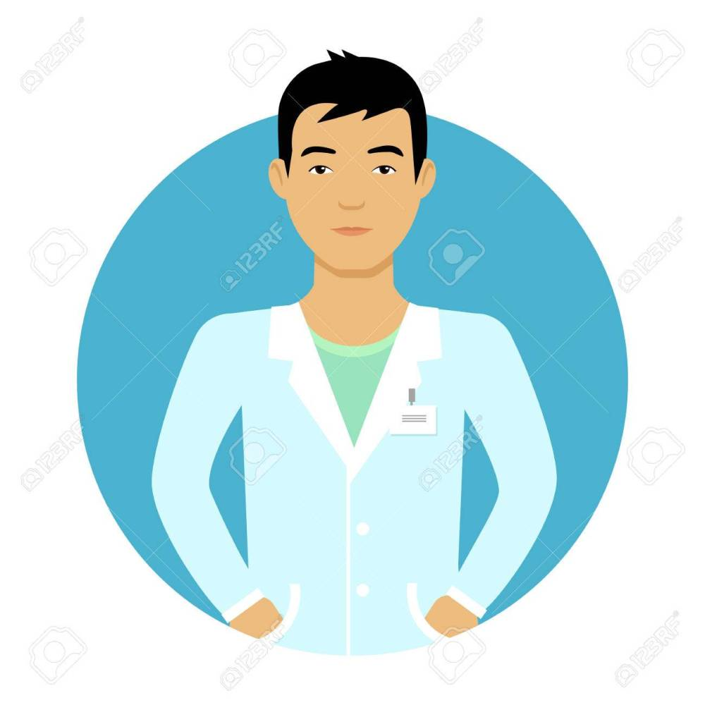 medium resolution of male character portrait of young asian nurse man stock vector 44542888