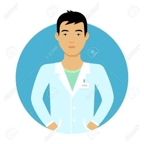 small resolution of male character portrait of young asian nurse man stock vector 44542888