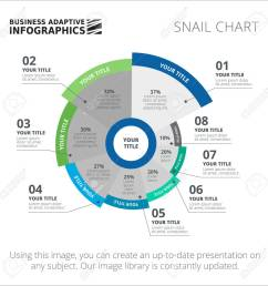 editable infographic template of circular snail diagram blue and green version stock vector 47247533 [ 1300 x 1300 Pixel ]