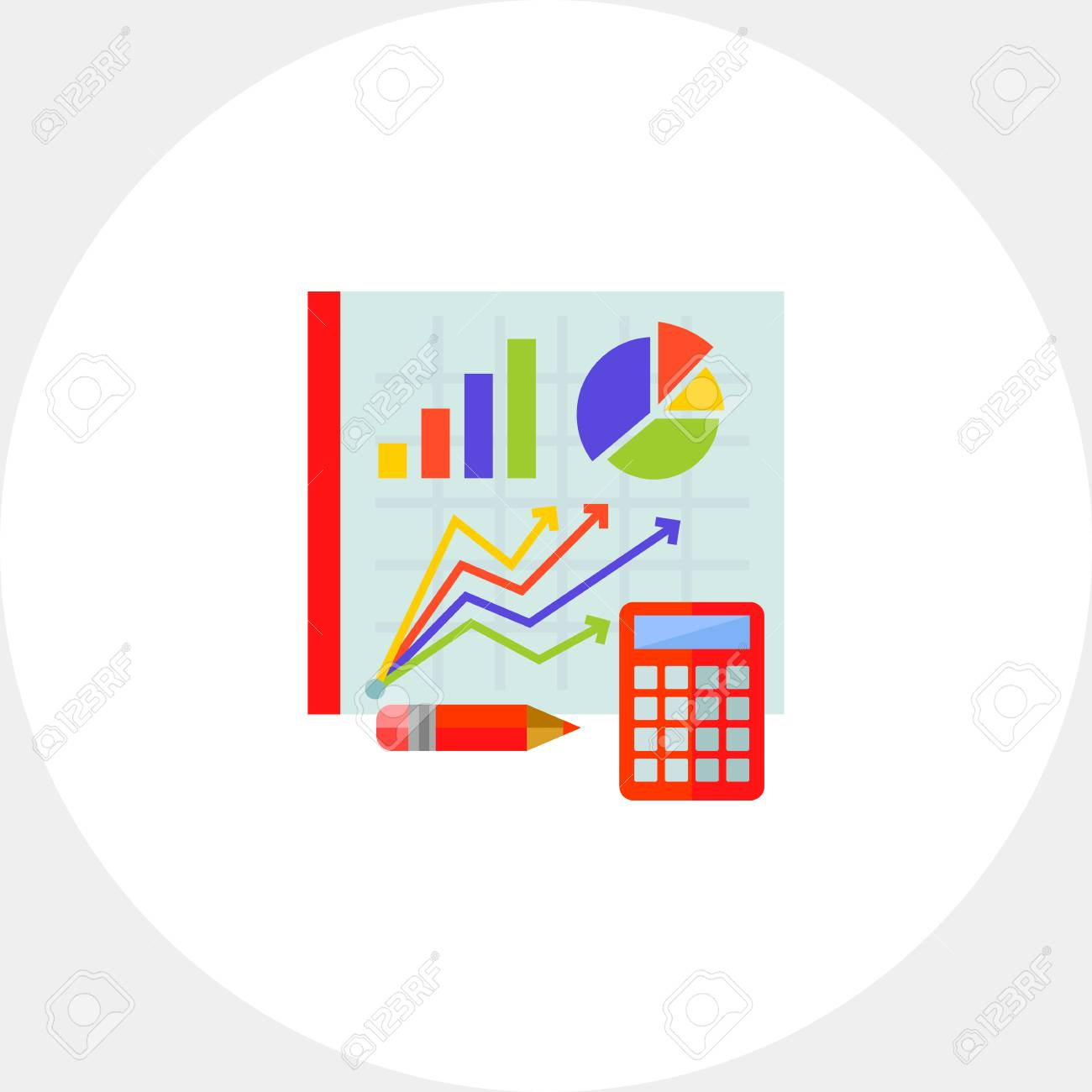 hight resolution of statistics calculator pencil diagram statistics concept can