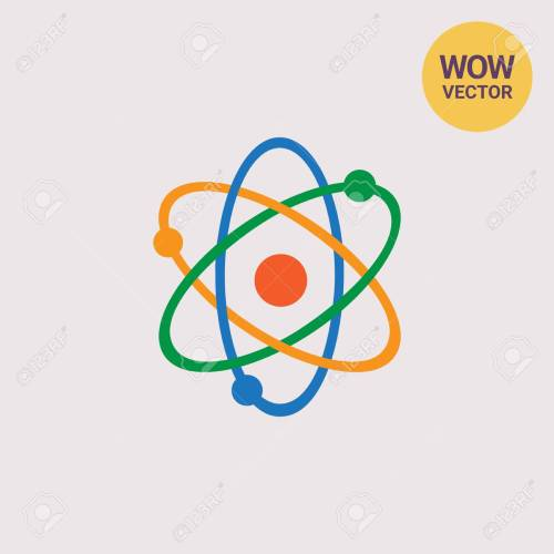 small resolution of atom model icon stock vector 72514665