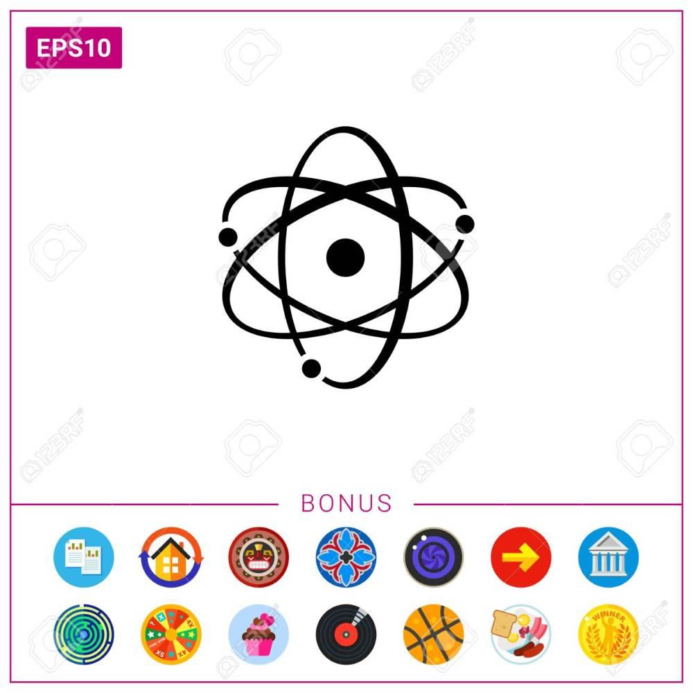medium resolution of atom model stock vector 76645869