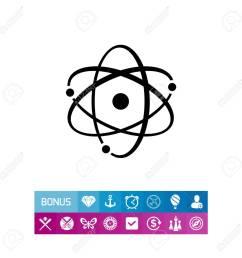 icon of atom model stock vector 81411966 [ 1300 x 1300 Pixel ]