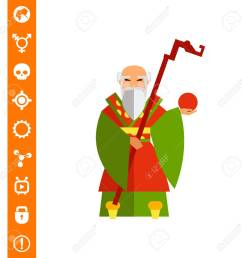 chinese old wise man icon stock vector 84862831 [ 1300 x 1300 Pixel ]