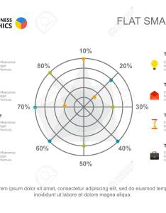 Eight options radar chart business data percentage result diagram creative concept also rh rf