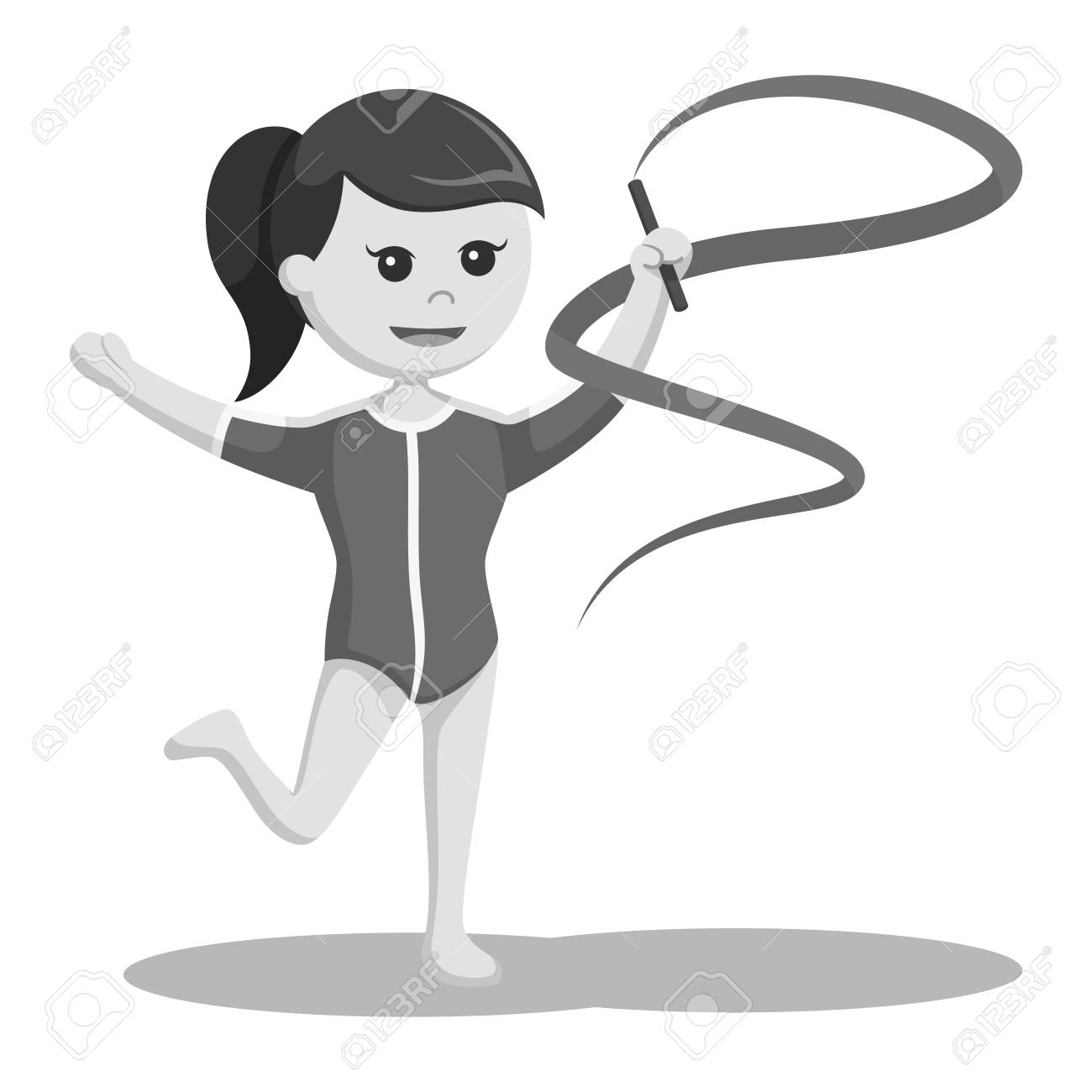 woman gymnastic with ribbon