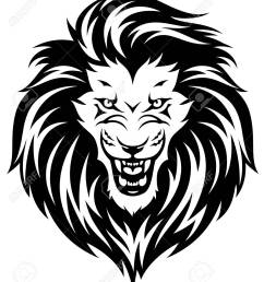 head of roaring lion black illustration isolated on white background stock vector 93411634 [ 1105 x 1300 Pixel ]