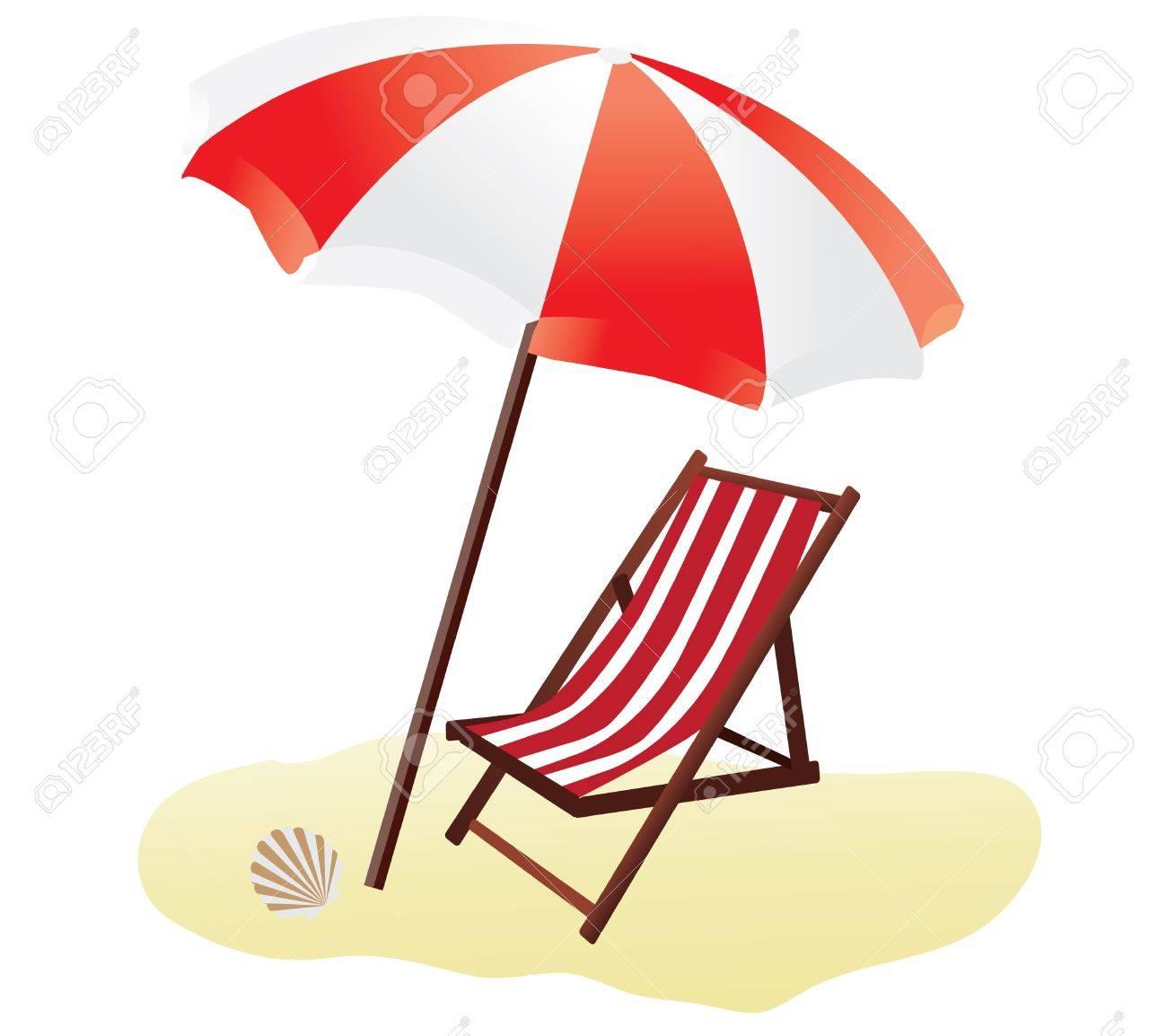 beach chair and umbrella clipart danish rocking vector a royalty free cliparts vectors